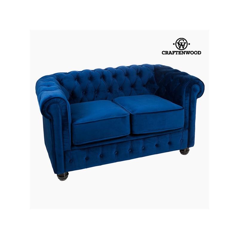 2 Seater Chesterfield Sofa Velvet Blue