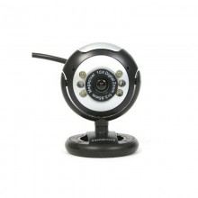 Webcam Omega C12SB 12 mpx LED Black