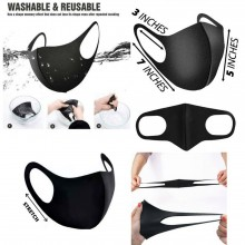 2pcs for the price of 1 Face Mask - Reusable Face Mask - Washable Face Mask - Black, Breathable