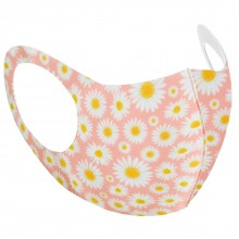 pink daisy face mask