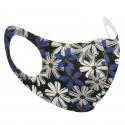 blue floral mask