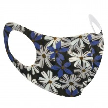 Blue Floral reusable face mask one size