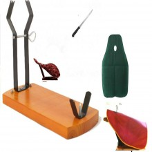 Serrano ham holder stand 4pcs set - ham holder Gondola, Knife, ham cover, knife sharpener