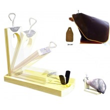Foladble Serrano ham holder stand 4pcs set - ham holder Gondola, Knife, ham cover, knife sharpener