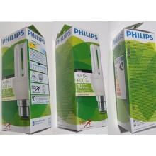 3 X Philips 11w Genie Energy Saving Light Bulb, BC/B22/Bayonet Cap, 10 Year