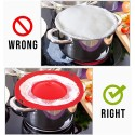Multi-Purpose Lid pot Cover And Spill Stopper boil over guard